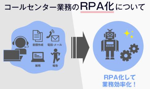 コールセンター業務のRPA化について