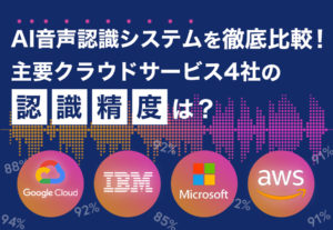 AI音声認識システムを徹底比較!主要クラウドサービス4社の認識精度は?